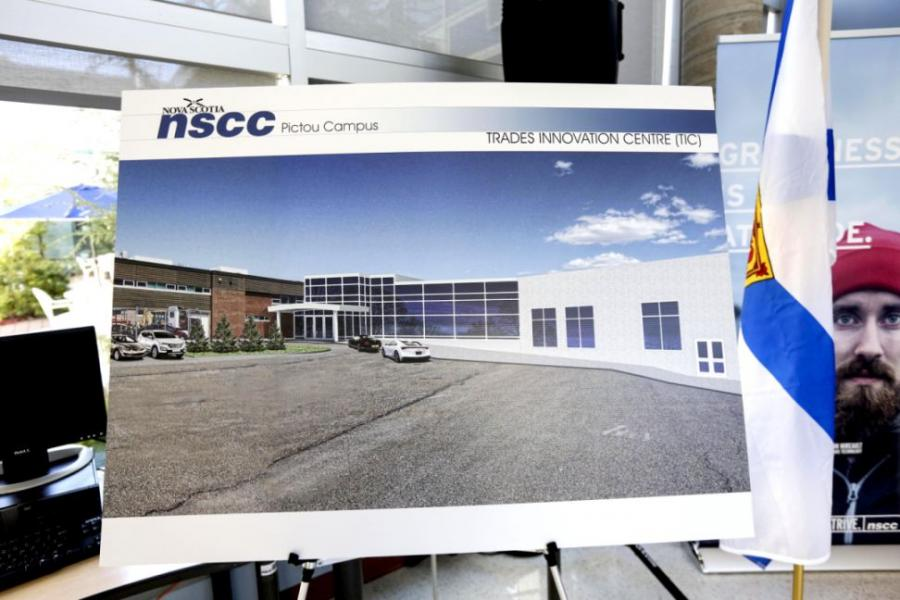 Nova Scotia youth will benefit from a $15.2 million investment that will help construct a Trades Innovation Centre at the Nova Scotia Community College Pictou Campus.