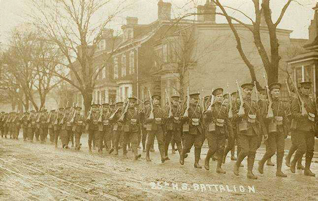 25th Battalion, marching through Halifax, May 20, 1915
