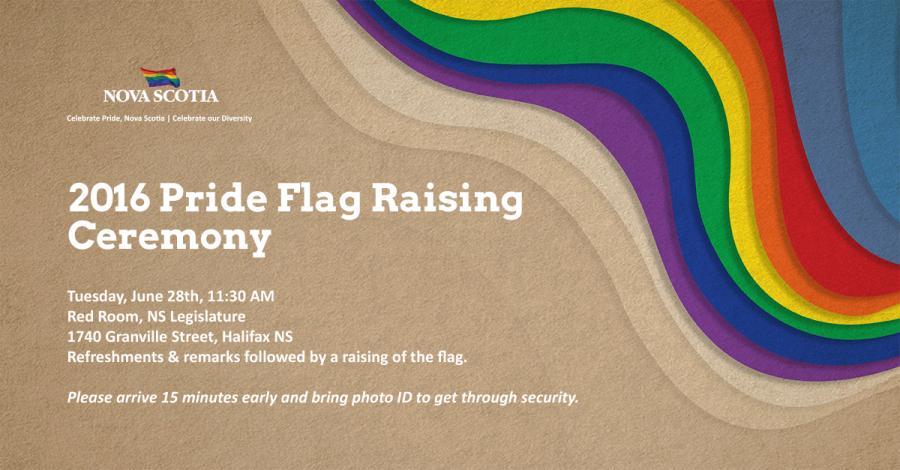 An invitation to the flag-raising.