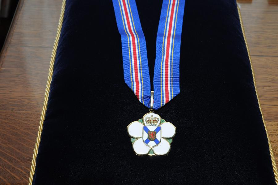 The Order of Nova Scotia medal.