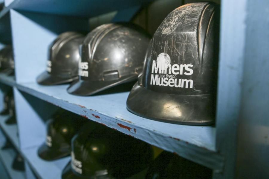Helmets at Miners Museum