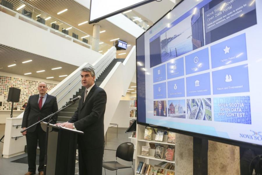 Premier Stephen McNeil launched Nova Scotia's Open Data portal Friday, Feb. 5, at the Halifax Central Library.  The portal makes more than 130 government data collections available to individuals, researchers and entrepreneurs.