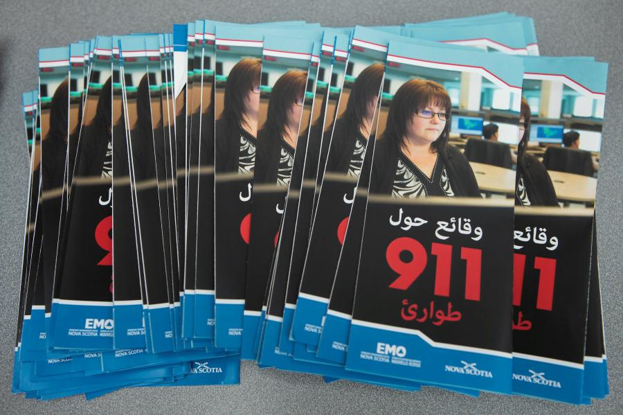 Brochures on how to use 911