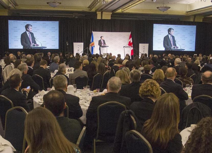 Premier Stephen McNeil delivers State of the Province remarks to Halifax Chamber of Commerce.